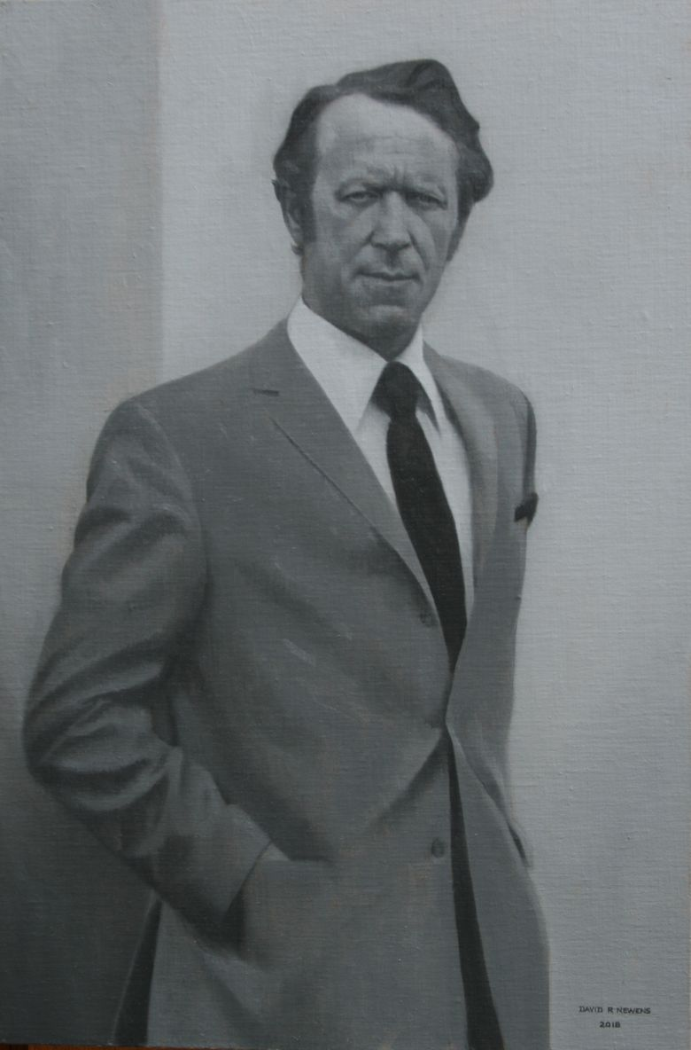 Commissioned Portrait Painting of Bob - Posthumous Portrait