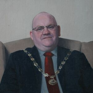 Commissioned Portrait Painting of Paul Day, Mayor of Newport Pagnell
