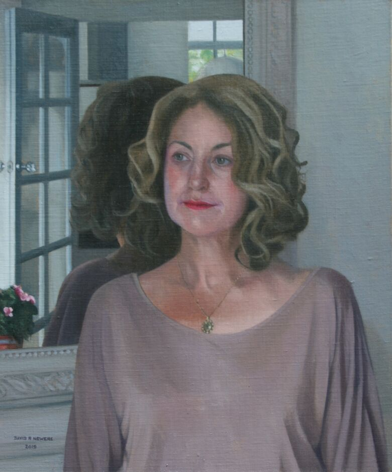 Commissioned Portrait Painting of Carolyn Gabriel