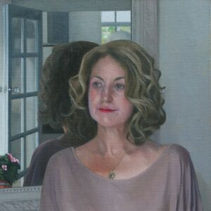 Commissioned Portrait Painting of Carolyn