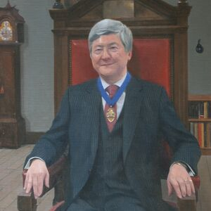 Commissioned Portrait Painting of Professor Christopher Liu OBE