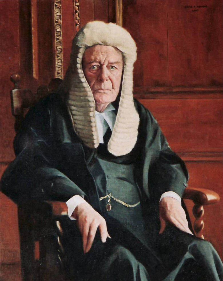 Commissioned Portrait Painting of Brian Higgs QC