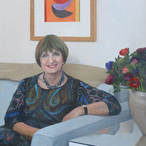 Commissioned Portrait Painting of Baroness Tessa Jowell DBE