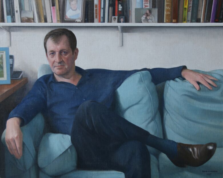 Commissioned Portrait Painting of Alastair Campbell