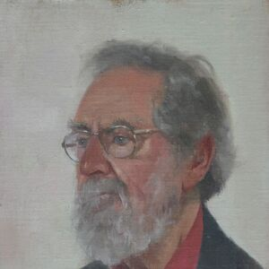 Commissioned Portrait Painting of Anthony Eyton RA